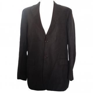 Massimo Dutti brown linen jacket
