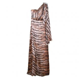 Malak ElEzzawy Couture Silk Tiger Dress