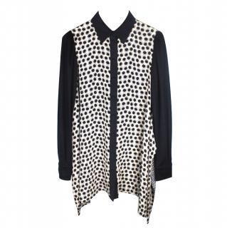 MaxMara SportMax Pattern Silk Shirt Dress