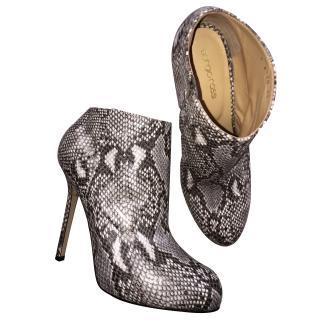 Sergio Rossi Python Boots