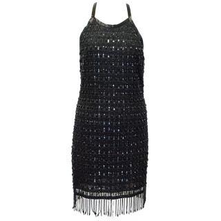 Roberto Cavalli Black Beaded Dress