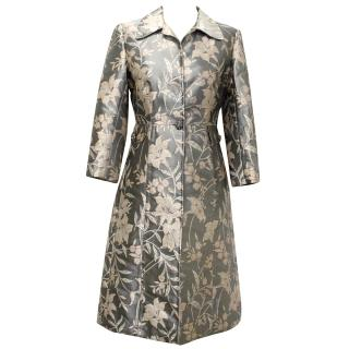 Dolce & Gabbana Floral Print Silk Coat