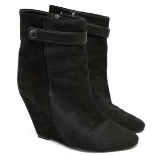 Isabel Marant Pony Hair Ankle Boots