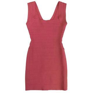 Herve Leger Fuchsia Pink Dress