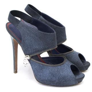 Alexander McQueen Denim look Zipper Heels