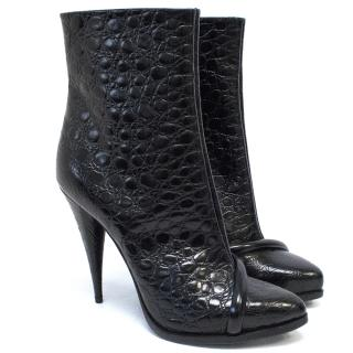 Givenchy Black Embossed Leather Boots