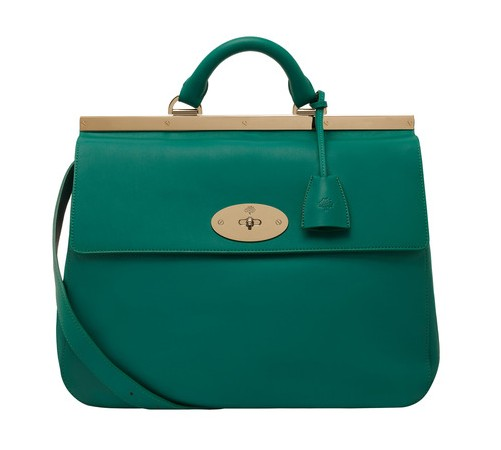 Mulberry large Emereald Green Suffolk bag