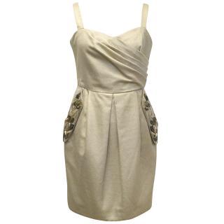 Matthew Williamson Gold Dress