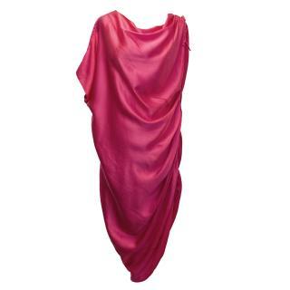 Lanvin Pink Silk Dress