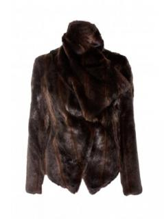 Pinko suede and fur jacket