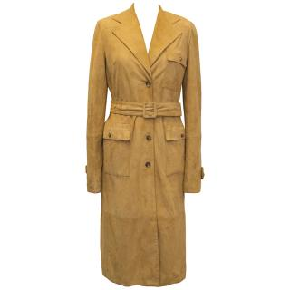 Dolce & Gabbana Tan Suede Trench Coat