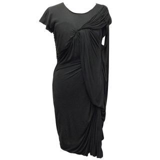 Lanvin Dark Grey Drape Dress