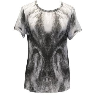 Alexander McQueen Black and White Printed Top