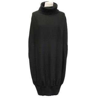 McQ Black Cape Turtle neck Jumper