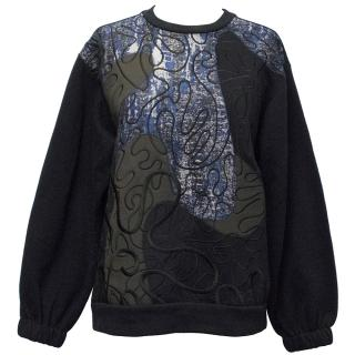 Stella McCartney Navy Jumper with Embroidery