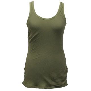 Alexander McQueen Khaki Green Top