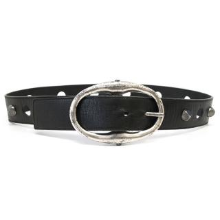 YSL Black Leather Belt