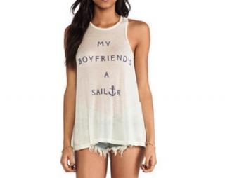 Wildfox 'My Boyfriend's a Sailor' vest/cami