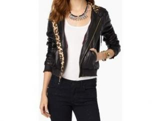 Juicy Couture Leather bomber jacket