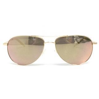 Oliver Peoples Mirrored Aviator Sunglasses
