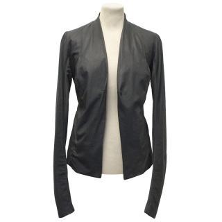 Rick Owens Grey Leather Jacket