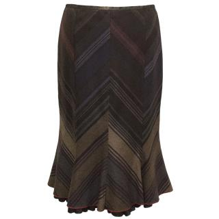 Etro Brown Patterned Skirt