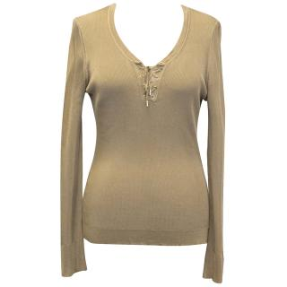 Tom Ford Beige Knitted Top