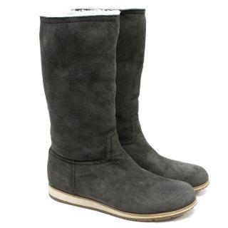 Prada Grey Boots