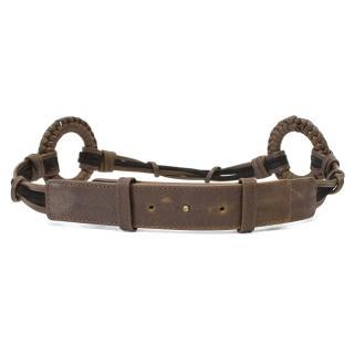 Chloe Brown Leather Belt