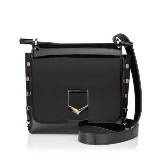 Jimmy Choo Lockett Black Patent Bag