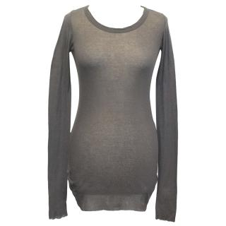 Rick Owens Grey Long sleeve Top