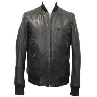 J.Lindenberg Leather Bomber Jacket