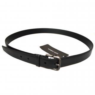 Dolce & Gabbana black leather belt