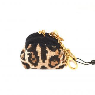 Dolce & gabbana knitted mini Sicily bag charm key ring