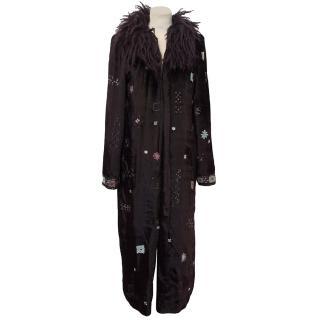 Helen David for English Eccentrics Purple Velvet Coat