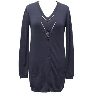 Bluemarine Navy Vest Top and Cardigan