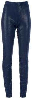 Ann Demeulemeester Leather leggings midnight blue