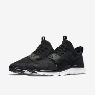 Nike Free Ace 5.0 All Black Leather Strap Sock Dart Racer Huarache
