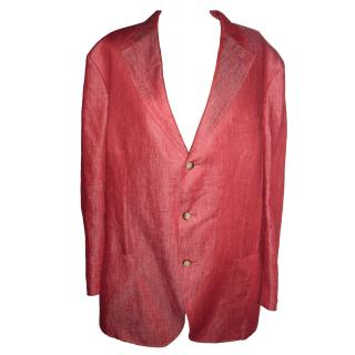 Faconnable red linen jacket