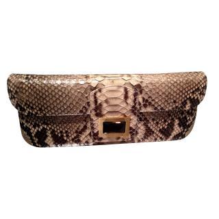 Kara Ross python skin clutch bag