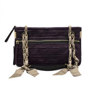 Lanvin Plum Satin Shoulder Bag