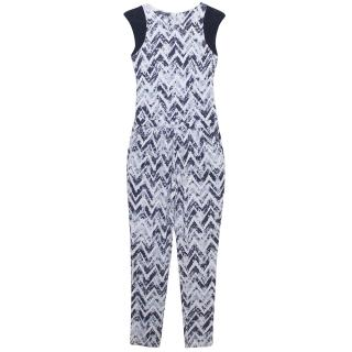 Tart Navy Patterned Jumpsuit