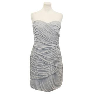 Camila and Marc Grey Strapless dress