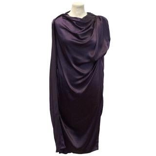 Lanvin Purple Silk Sleeveless Dress