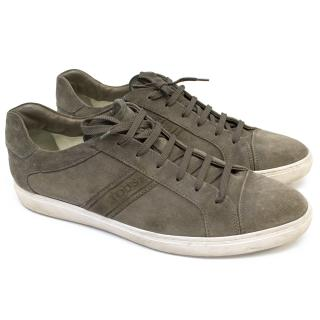 Tods Grey Suede Trainers