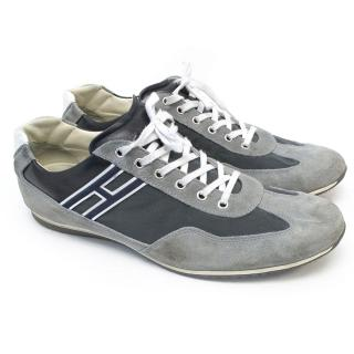 Hogan Grey and Navy Trainers