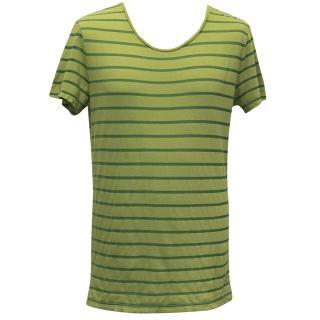 J. Lindeberg Green Stripe T-Shirt