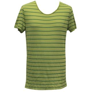 J. Lindeberg Green Stripe T-Shirt