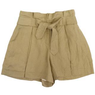 Twenty8Twelve Beige Paperbag Shorts