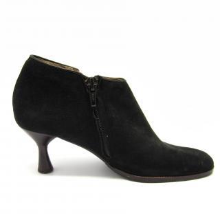 Charles Jourdan black suede ankle boots